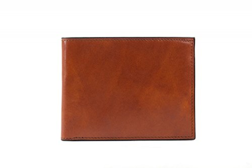 Bosca Men's Old Leather Classic 8 Pocket Deluxe Executive Wallet (Amber) (Wallet Fold Bosca Bi)