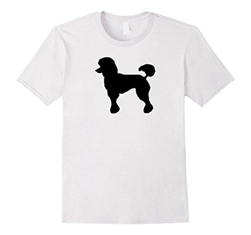 Poodle Costumes Ideas (Mens Poodle Kids Shirt Black Poodle Costume Retro Skirt Shirt Large White)