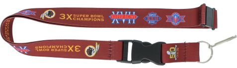 Washington Redskins Nfl Lanyard (NFL Washington Redskins 2016 Super Bowl Dynasty Lanyard 24