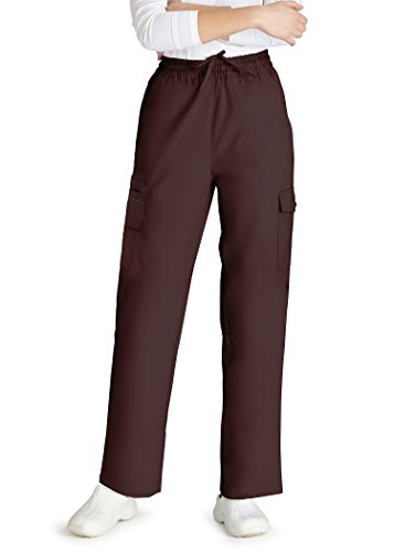 Adar Universal Natural-Rise Multipocket Cargo Tapered Leg Pants - 506 - Chocolate Brown - (Doc Brown Outfit)