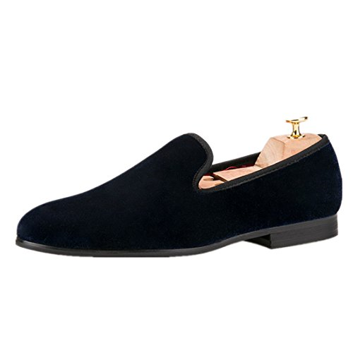 HI Dress Loafers Colorful amp;HANN Men Blue Smoking Flats Navy Shoes Men Casual Men's Male Velvet Slippers Shoes rWwrYqyI4U