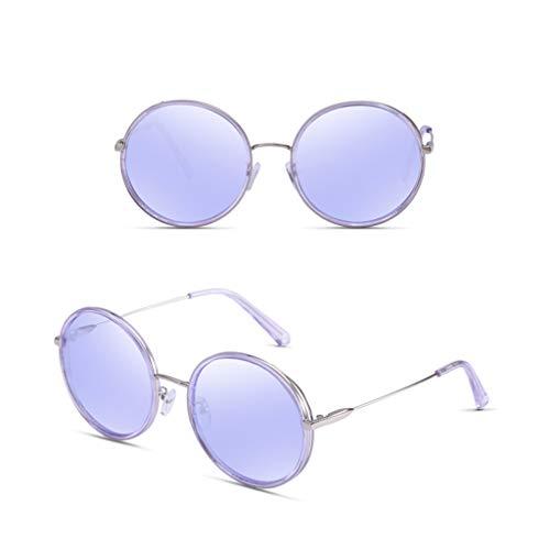 Sol Pink Para Mujer Marco Redondo Protección Shot Marea Uv Gafas De Tamaño Moda color F Nuevo Purple Odshy Street wqtZEBH