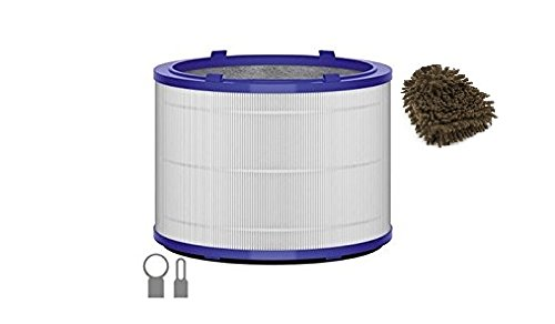 yson Replacement Filter, for Dyson Purifier Pure Cool Link Desk and Dyson Pure Hot+Cool Link Purifiers (Complete Set), with Microfiber Cleaner Bundle