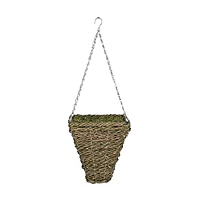 House of Silk Flowers Artificial Fern in Hanging Square Basket 3