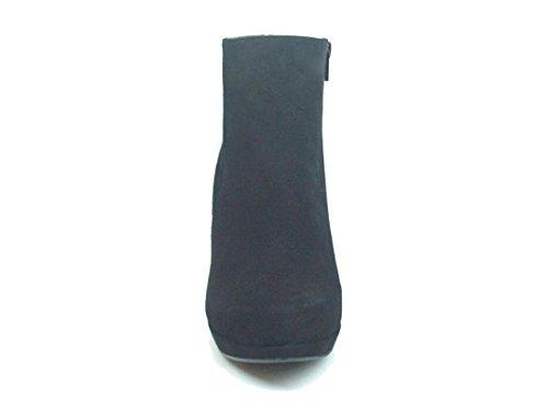 talla con de 34 Plataforma Ante Aguja Botines negro Gennia Tacon de COTIN Mujer Piel para y Piel nUICxwqZqF
