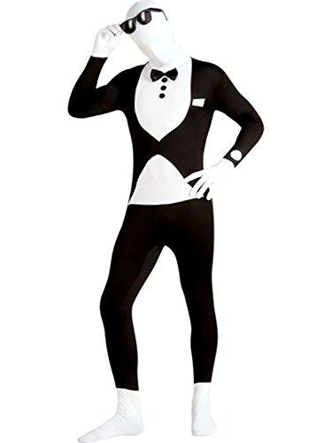 Tuxedo 2nd Skin Body Suit Adult Costume - X-Large (Halloween Costume Birthday Suit)