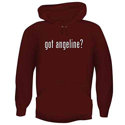 One Legging it Around got Angeline? - Men's Funny Soft Adult Hoodie Pullover, Maroon, Large