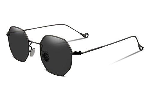 FEISEDY Hipster Polygon Sunglasses Flat Lens Slender Metal Frame Women Men Brand Glasses B2254