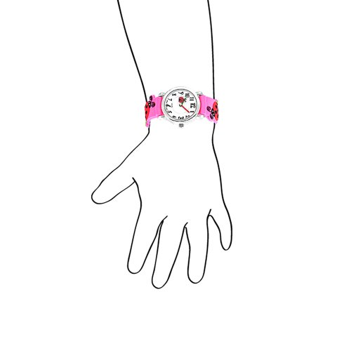 Bling Jewelry Girls Pink Ladybug Clover Kids Watch Stainless Steel Back by Bling Jewelry (Image #2)
