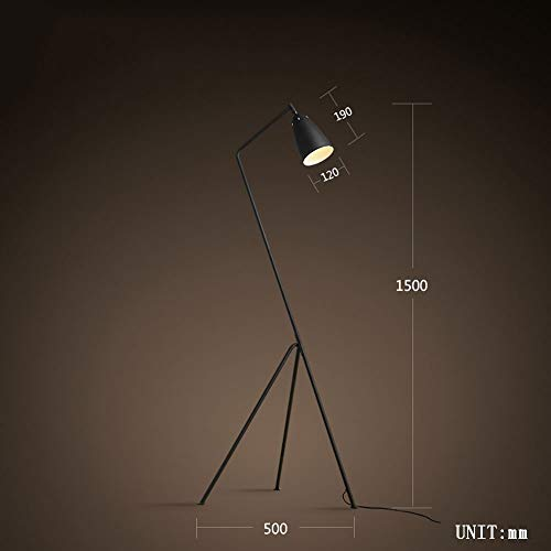 Cdeng Lighting Indoor Floor Lamp Metal Long Arm Wrought Iron American Rural Industry Loft Retro Ideas Study Living Room Bedroom Bed Bulb Included,C (Best Loft Conversion Ideas)