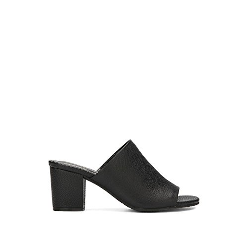 e Malyn Slip-On Leather Mule - Women's - Black (Heel Leather Mule)