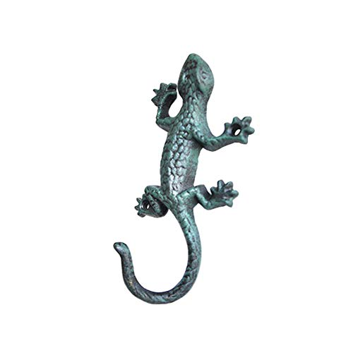 Whale GoGo 1 Piece Wall Mount Cast Iron Gecko Hook Coat Hat Clothes Hanger