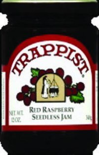 Trappist Preserve Jam, Red Raspberry, Sdls, 12-Ounce (Pack of 6)