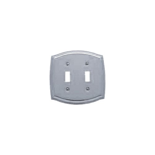 Baldwin 4766.260.CD Colonial Design Double Toggle Switch Plate, Chrome