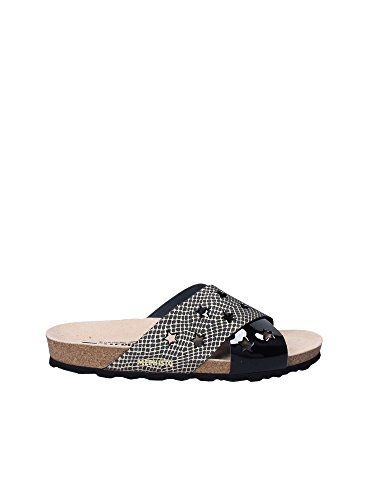 Mephisto 2 Wide Band Slip On Sandal Black Multi
