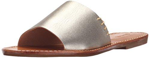 One Strap Sandal (Soludos Women's Slide Flat Sandal, Platinum, 7 M US)
