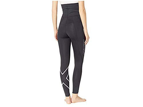 2XU Women's Pre-Natal Active Compression Tights Black/Silver X-Large 25 by 2XU (Image #2)