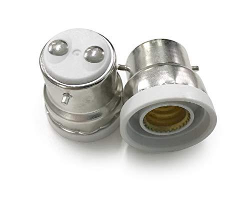 Light Socket 5 PCS B22 to E12 Bulb Base Lamp Holder Converter adapter for LED incandescent halogen energy saving lamps
