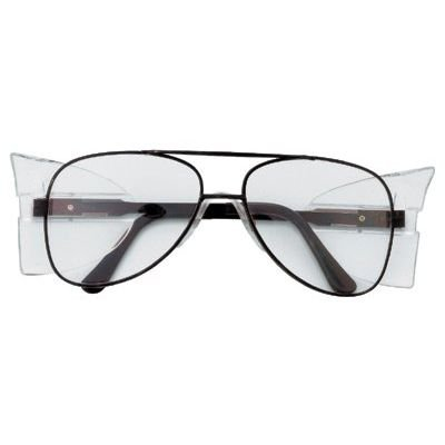 Mcr Safety Glasses Engineer - Crews Glasses 135-62110 Engineer Safety Glass with Black Frame, Aviator Shape 58mm, Clear Lens
