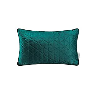 Pillow Quilted Velvet Thickening Living Room Solid Color Simple Lumbar Pillow Multi-Color Pillow, Two Sizes (Color : Bronze, Size : 30x50cm)