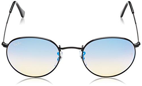 Black de Mirror Shiny Soleil Rb3447 Blue Shiny Black Ban Lunettes Mixte Gradient Ray HZ0fTI