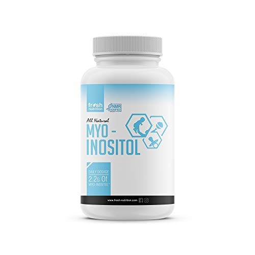 Inositol – Myo-Inositol - 2200mg - 120 High Potency Powder Capsules - Strongest and Best Value - Potent Fertility and Reproductive Support – Healthy Ovulation and a Regular Cycle