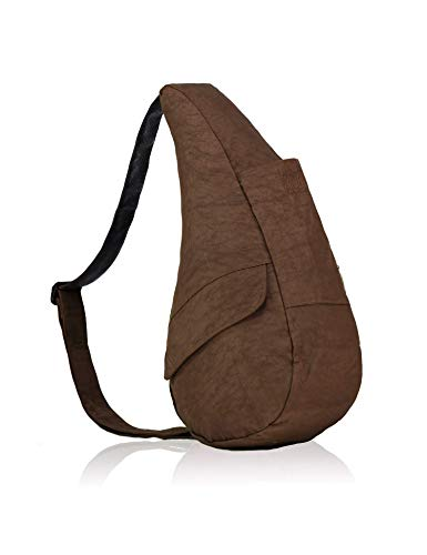 AmeriBag X-Small Distressed Nylon Healthy Back Bag Tote, Brown ()