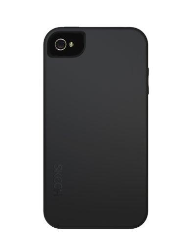 Skech IPH4-GS-BLK Gel Shock Schutztasche für Apple iPhone 4S/4 (inkl. Displayschutzfolie) schwarz