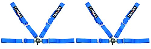 Tanaka Racing Style 4 point Harness For Powersports - PAIR (Blue)