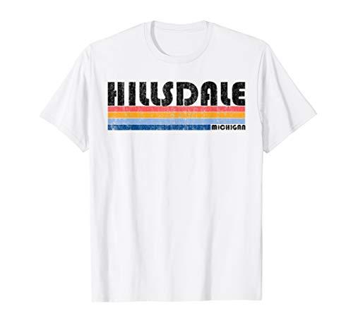 Vintage 1980s Style Hillsdale MI T Shirt from Retro Hillsdale T-shirt