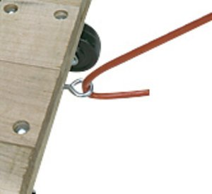 Tow Handle and Eye Hook Wood Dollie Option