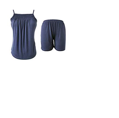 - Sleepy Time Women's Bamboo Pajamas, Night Sweat Moisture Wicking Sleepwear -Summer Style (X-Small, Blue)
