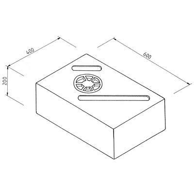 Goebel Wassertank Volumen  44 l, weiß, Frisch- und Abwassertank, 80 x 40 x 20 cm
