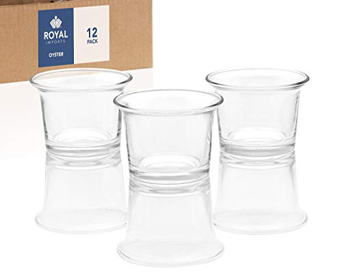 Royal Imports Candle Holder Glass Votive for Wedding, Birthday, Holiday & Home Decoration, Oyster, Set of 12 - Unfilled ()