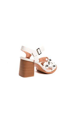 Ikrush Womens IMO Studded Double Strap Sandals White EsvSHhODc