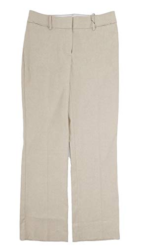 - LOFT - Women's - Tweed Textured Julie Fit Trouser Pants (4, Stone)