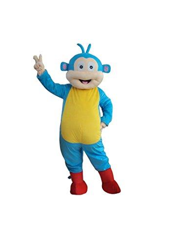 Sinoocean Boots The Monkey Of Dora The Explorer Adult Mascot Costume Fancy Dress (Dora Costume Man)