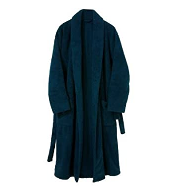 Wolsey Morley Navy Blue Towelling Mens Dressing Gown / Towelling ...
