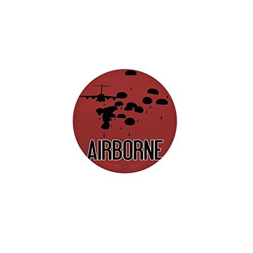 CafePress - U.S. Army: Airborne Jump (Airborne Red) Mini Butto - 1