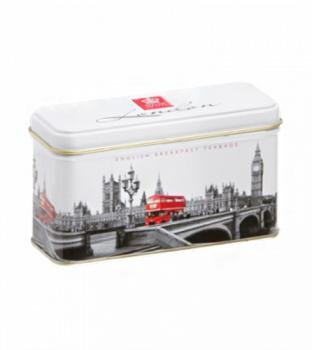 Breakfast Tea Caddy - English Tea, English Breakfast Tea in Little Westminster Caddy (2 Packs, 2 x 14 Teabags) - 1317