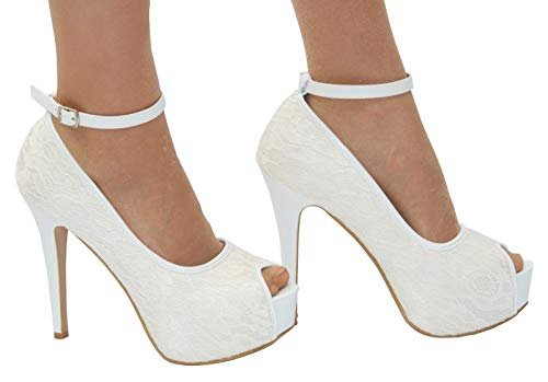 Box Femme Shoe Bride Blanc Boutique Cheville BgxdFd7wqp