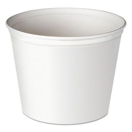 SCC5T1UU - Double Wrapped Paper Bucket, Unwaxed, White, 83 Oz