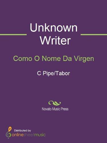 Como O Nome Da Virgen - Score