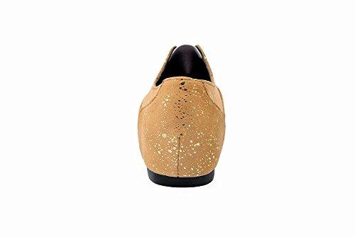 Carolbar Scarpe Da Donna Scarpe Col Tacco Alto Bungee Moda Tacco Nascosto Scarpe Casual Oro