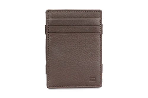 Brown Leather RFID Plus Nappa Magic Magistrale Wallet Chocolate Garzini qawxSp8t