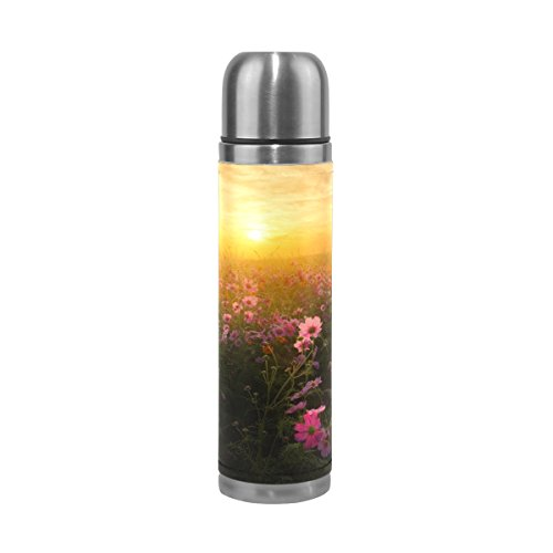 imobaby Cosmos Blossom Sunshine Leak Proof Water Bottle Insulated Double Vacuum Stainless Steel Thermos 500ML