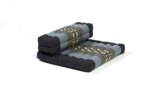 My Zen Home Dhyana Meditation Cushion, Blue/Black