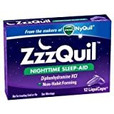 ZzzQuil Night Time Sleep Aid Liquicaps - 12 per Pack - 24 Packs per case.