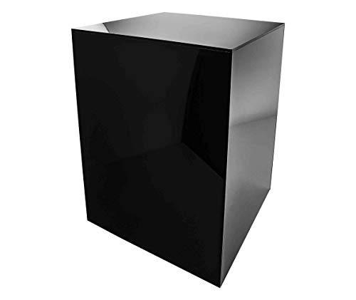 Marketing Holders Platform Display Box Art Sculpture Pedestal Collectible Cube Cover Trophy Trinket Acrylic Showcase Stand Expo Event Wedding Reception 5 Sided 12 w x 16 h x 12 d Black Pack of 1