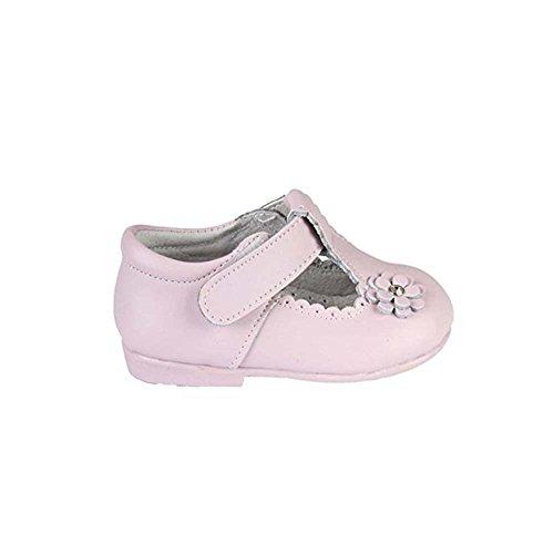 Babies de piel para niña, color rosa